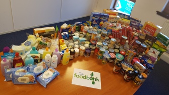 Recent donations for the West Lothian Food Bank