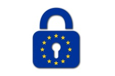 GDPR represented by padlock with european stars on it